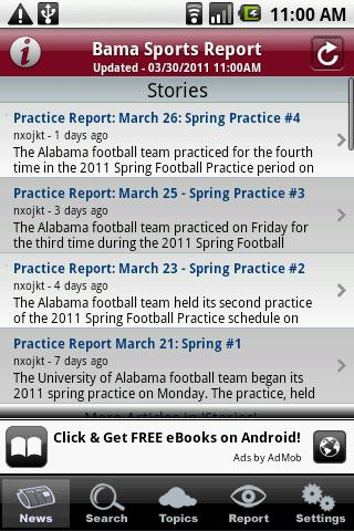 Bama Sports Report - screenshot