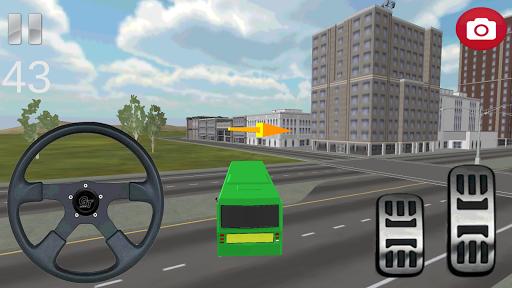 Otobüs Yolcu Taşıma 3D