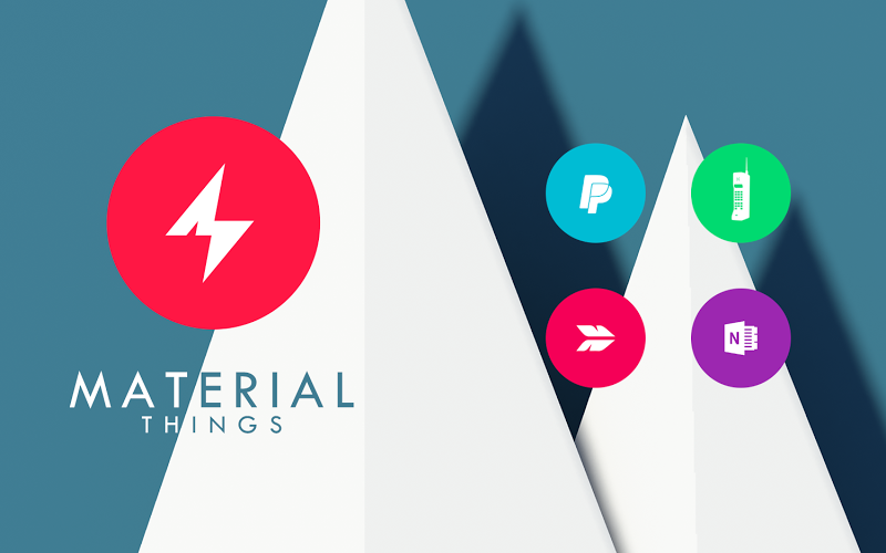 Material Things - Colorful Icon Pack (Pro Version) Screenshot 8