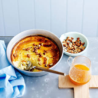 Baked Ricotta With Honey, Orange And Almonds.