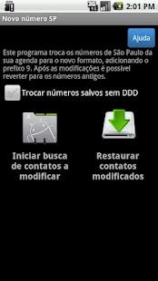 Novo número Brasil - screenshot thumbnail