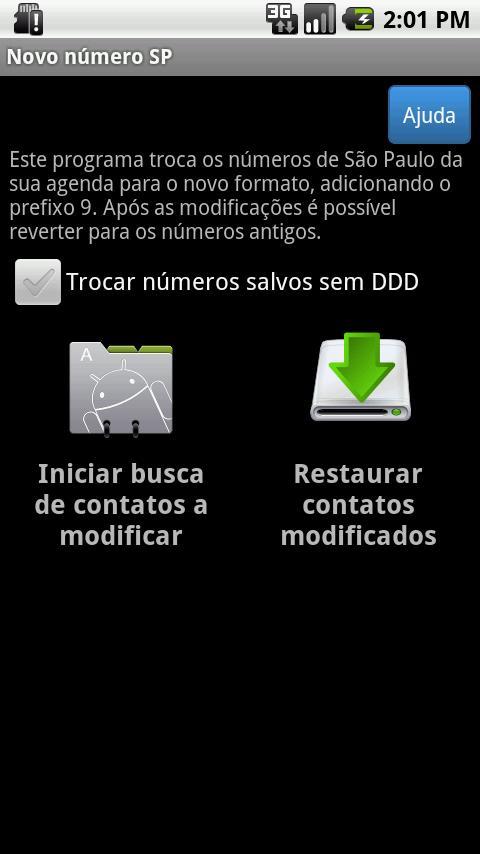 Novo número Brasil - screenshot