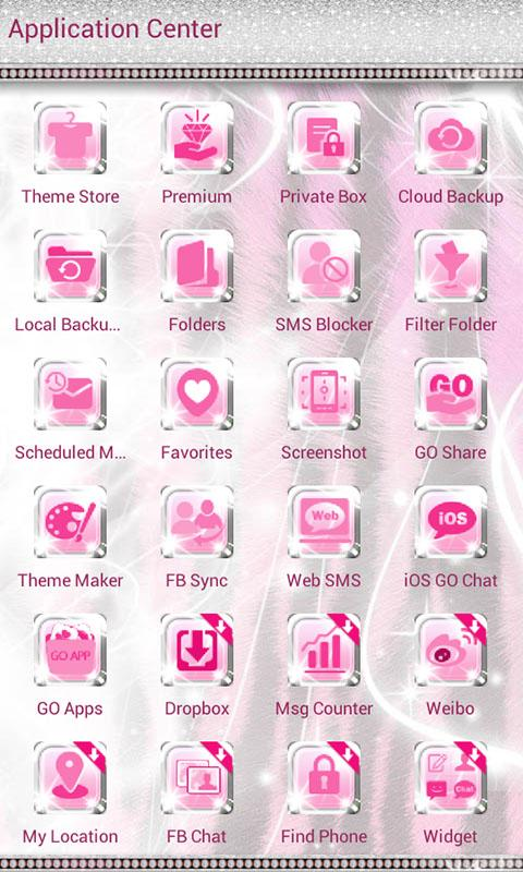 Ultra Cute Pink Zebra Theme- screenshot