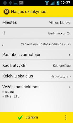 eTAKSI - taksi iškv. Lietuvoje