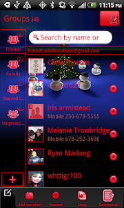 GO Contacts EX Christmas Theme screenshot 3