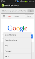 Screenshot of Extract Email Address