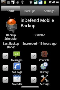 inDefend Mobile Backup - screenshot thumbnail
