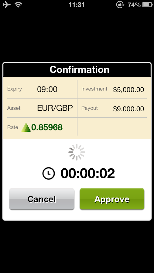 FMTrader - binary options - screenshot