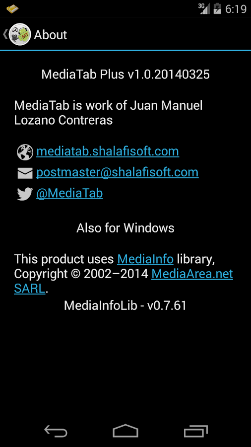 MediaTabPlus- screenshot