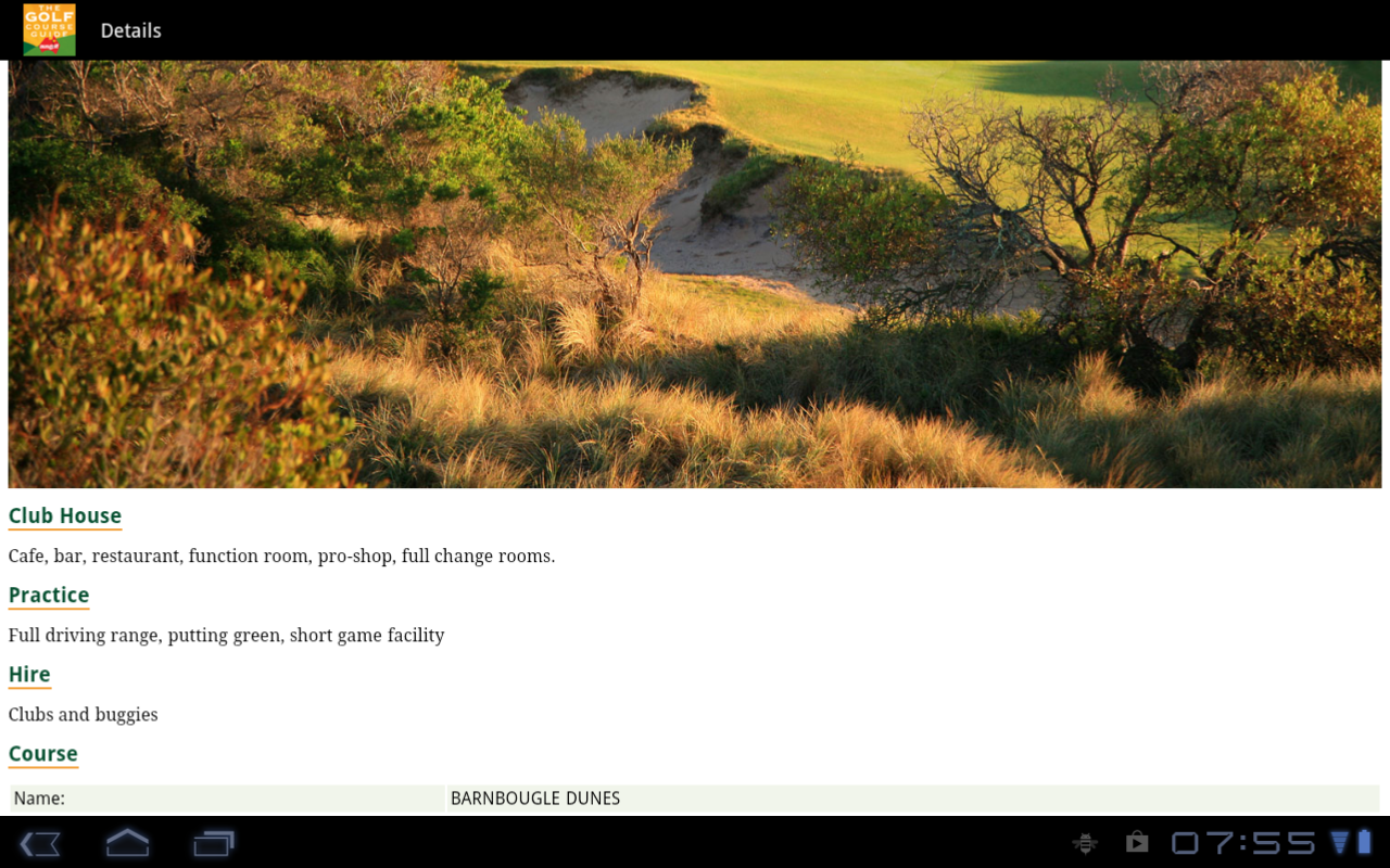 Golf Course Guide Aust Edition- screenshot