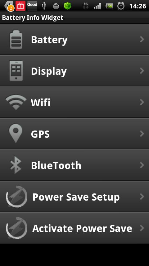 Battery Info Widget - screenshot