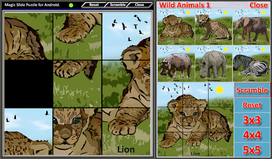 Magic Slide Puzzle W.Animals 1 Screenshot 15