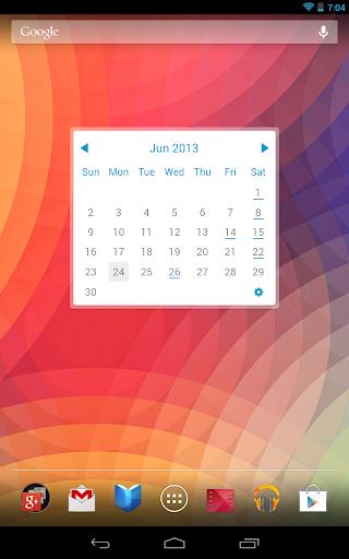 Monthly Calendar Gadget For Windows : Download my month calendar widget lite google play