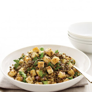 French Lentils with Caramelized Celery Root and Parsley