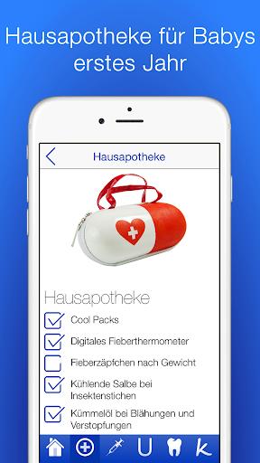 Baby Gesundheit Checkliste PRO app for Android screenshot