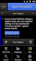 Screenshot of ListNote Speech-to-Text Notes