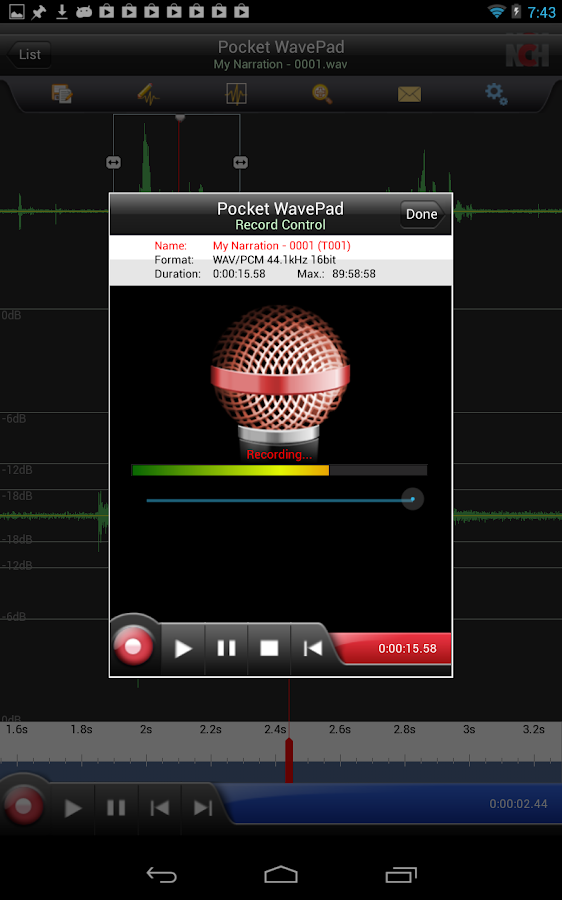 WavePad Free Audio Editor - screenshot