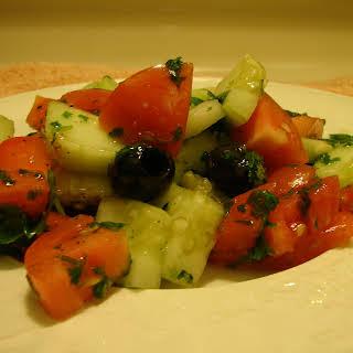 Quick Cilantro Salad.
