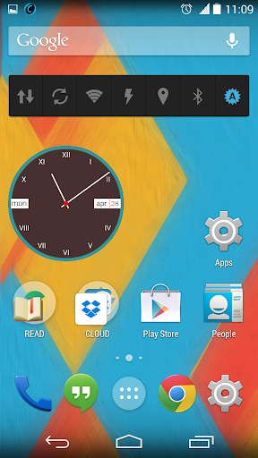 analog clocks zooper skin