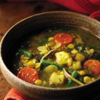 Ginger, Split Pea & Vegetable Curry (Subzi dalcha).