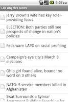 Screenshot of Los Angeles News Lite