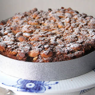"Christmas ""Fruitcake"" with Dried Apricots and Almonds."