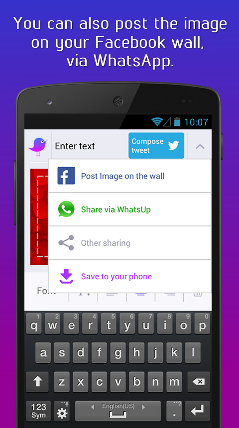 VividTweet - Image Messenger- screenshot