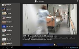 Screenshot of OU Anywhere