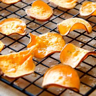 Apple Cider Sweet Potato Chips and Vinaigrette