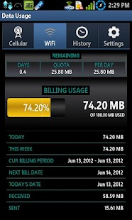Data Usage - screenshot thumbnail