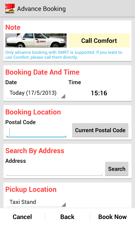 SG Cab Pro (Taxi Booking) - screenshot