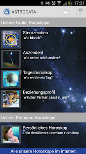 Astrodata Horoskop- screenshot thumbnail