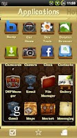 Screenshot of Vintage theme for ssLauncher