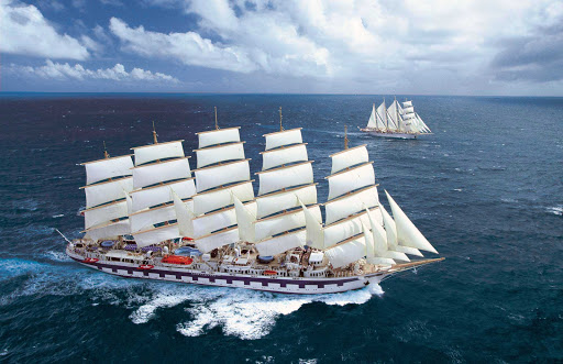 Royal-Clipper-at-sea-3 - Royal Clipper sails to such scenic destinations as the Mediterranean, Caribbean and Costa Rica.
