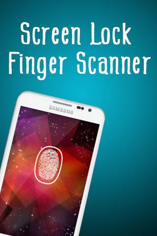 Screen Lock Finger Scanner