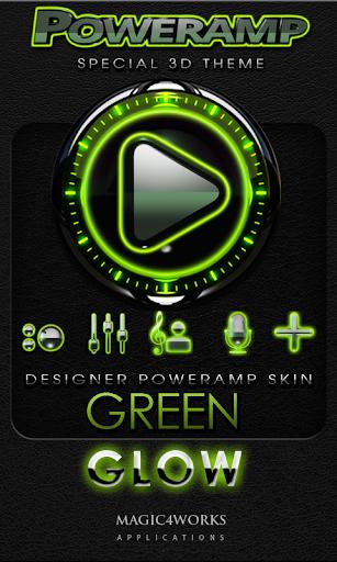 Poweramp skin Green Glow Magic