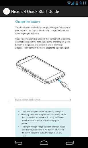 Nexus 4 Quick Start Guide