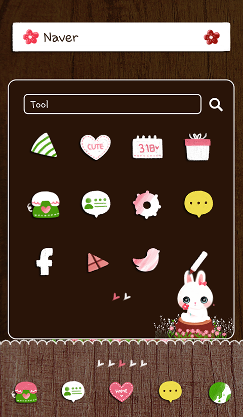 flower rabbit dodol theme - screenshot