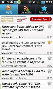 MMA NewsArena - screenshot thumbnail
