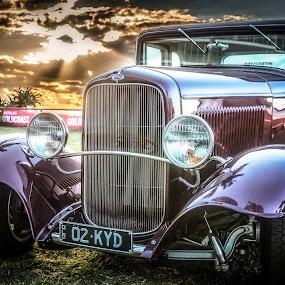 Vintage at Sunset by Esther Visser - Transportation Automobiles (  )