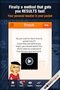 Learn French with MosaLingua v8.51