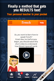 Learn French with MosaLingua - screenshot thumbnail