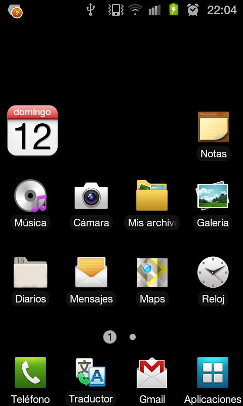 eCalendar widget- screenshot