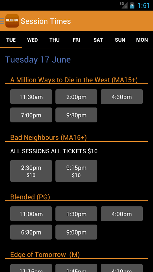 Bendigo Cinemas- screenshot