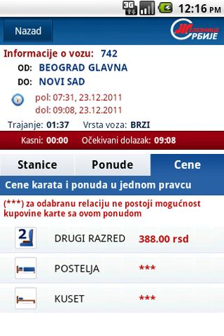 Red vožnje ŽS - screenshot