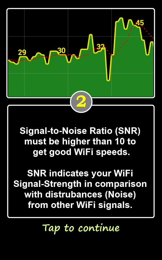 WiFi SNR - screenshot