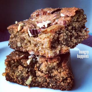 Paleo Maple Pecan Blondies.