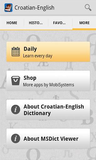 CroatianEnglish Dictionary