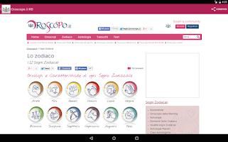 Screenshot of Oroscopo.it