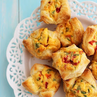 Mini Puff Pastry Quiche.
